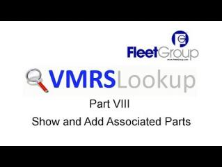 VMRS Lookup Part VIII - Show and Add Associated Parts