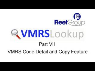 VMRS Lookup Part VII - Code Key Detail and Copy Feature