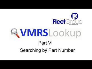 VMRS Lookup Part VI - Searching by Part Number
